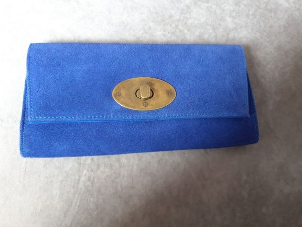Nowa torebka kopertówka Top Secret kobaltowa skóra