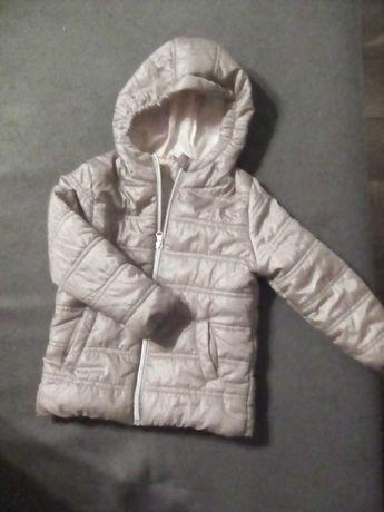 kurtka, jesienna lub na lekka zime , ocieplana w środku na podszewce.