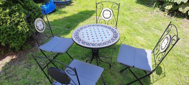 Stolik ogrodowy + 4 krzesła