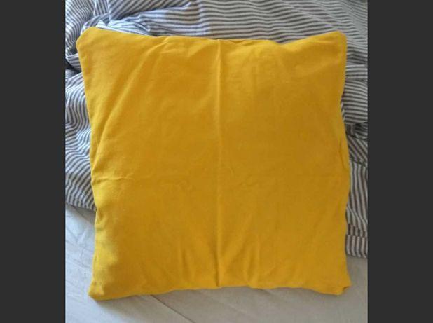Poszewki na poduszki H&M HOME musztardowe żółte