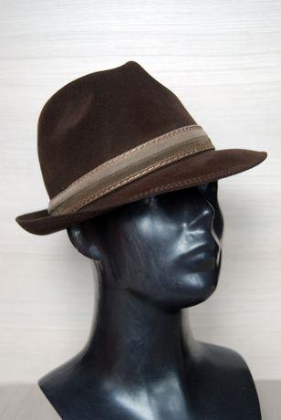 Трилби шоколадная и темно-синяя шляпы mayser коричневая 100% шерсть
