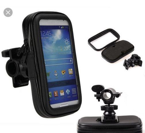 Крепление телефона с чехлом держатель Сумка на руль мотоцикла холдер