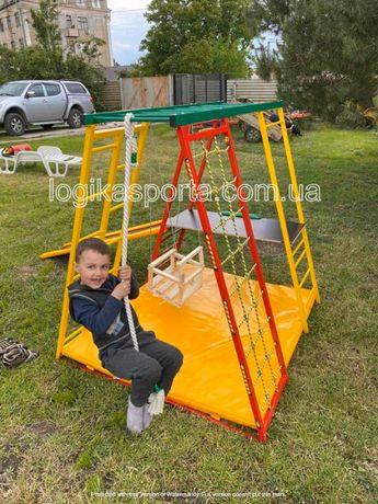 Детский спортивный комплекс, горка, игровая площадка, домик, качели