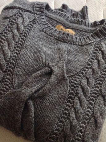 Camisola lã alpaca cinzenta Sacoor