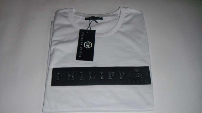 t-shirt philipp plein koszulka biała