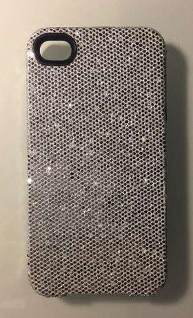 Capa NOVA iPhone 4/4S - Prateada com brilhantes