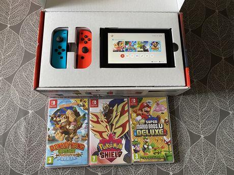 Nintendo Switch V2 + jogos