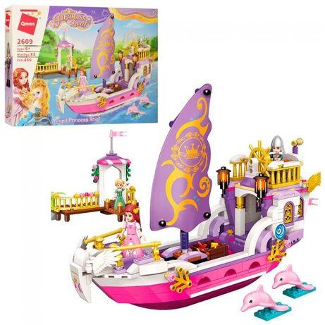 Конструктор Qman 2609 (12шт) розовая серия,корабль,фигурки,