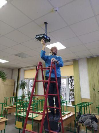 монтаж установка подвес телевизоров / проекторов в Одессе,все районы.