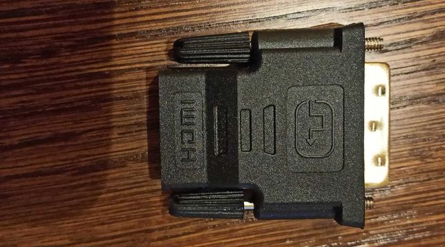 Adapter DVI - HDMI, złocona końcówka, jak Nowy
