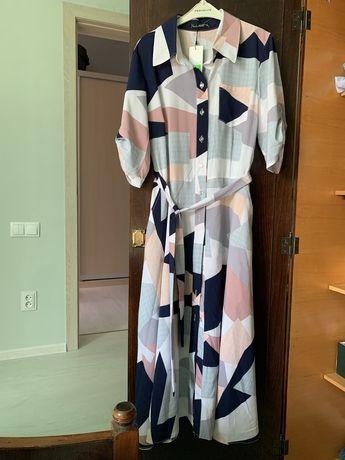 Легкое расклешеное платье