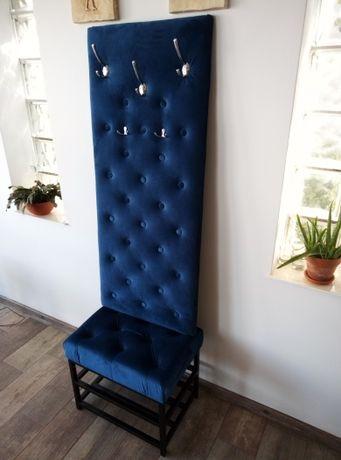Garderoba tapicerowana JAKOB z siedziskiem na metalu
