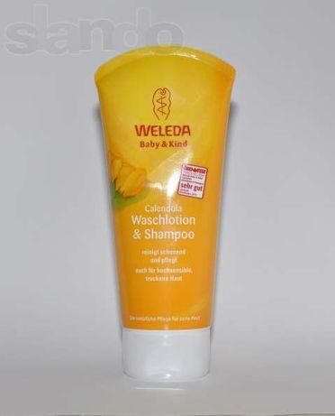 Шампунь-гель для тела и волос Weleda (Calendula Waschlotion & Shampoo)