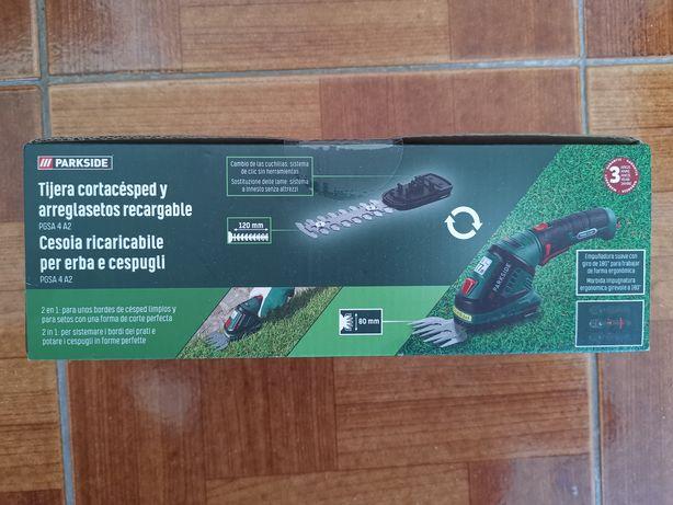 Máquina de aparar relva/verdes Parkside