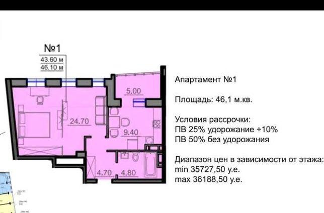 Последняя квартира с возможностью перепланировки