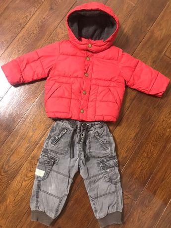 Курточка Gap, жилетка H&M, теплые штаны H&M, вещи на 1 годик