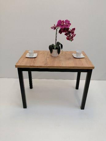 Stół 100x60x32 Złoty Craft n.czarna Loft Okazja !!!