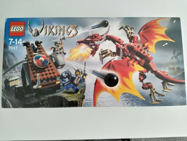 Lego 7017 Viking Catapult versus the Nidhogg Dragon Novo e selado