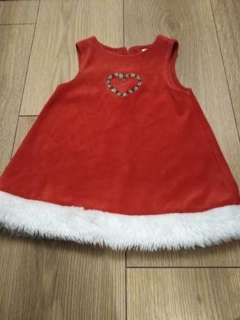 Sukienka świąteczna r 74/80