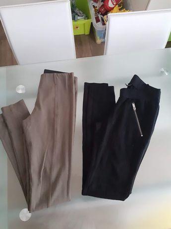 Zestaw 2-pak leggings khaki czarne xs