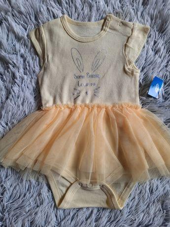 Nowe body, sukienka, tiulowa baskinka, r.74