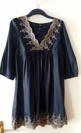 Sukienka boho H&M hippie haft r.38 M