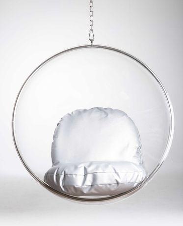 Fotel Wiszący przeźroczysty akryl kula - Bubble Chair