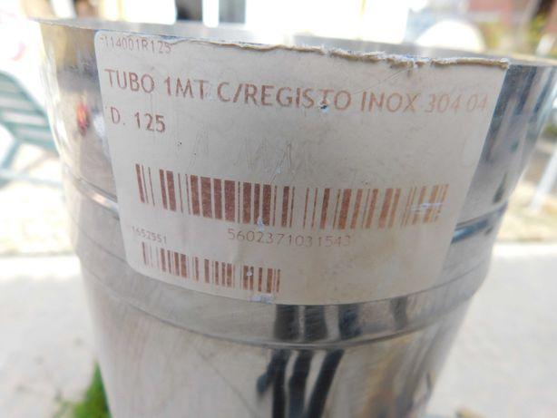 tubo inox 1 metro diametro 12,5 cm