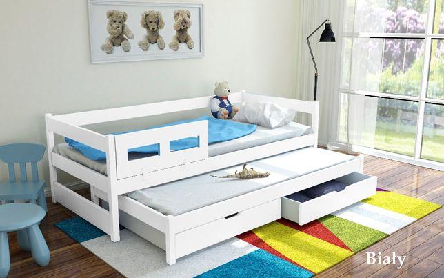 Łóżko 2-poziomowe 200x90 TOMEK z materacami GRATIS + barierka