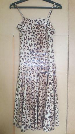 Sukienka karnawałowa z cekinami w panterke, rozmiar S