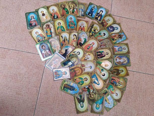 православные иконы и молитвы с голографическим эффектом разные