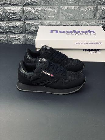 Reebok Classic чёрные кроссовки размер 35-46 мужские женские подростк