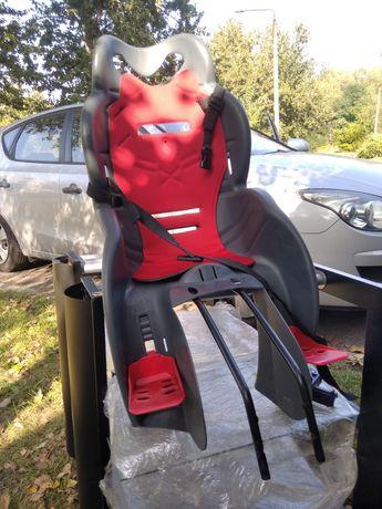 Fotelik rowerowy dziecięcy + 2 x mocowanie do rowerów
