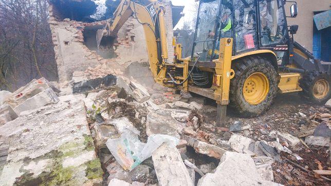 Rozbiórki wyburzenia budynków, garaży, wywóz gruzu, drewna, ziemi