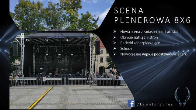 SCENA 8 x 6 x 6,5, konstrukcje sceniczne, podesty, dźwięk, światło,