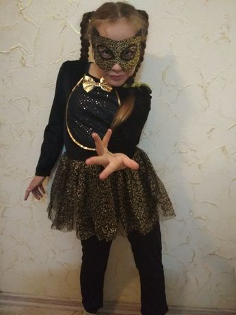 Костюм черной кошки на Хеллоуин или Новый год