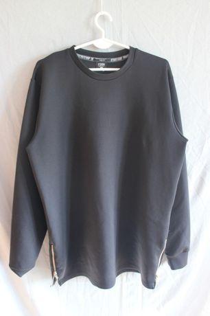 Czarna bluza z suwakami na bokach