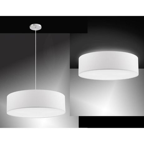 Biała lampa żyrandol abażur wisząca 40 cm Paul Neuhaus shade