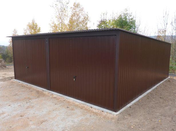 Blaszak na budowę Garaż blaszany 3x5 Schowek budowlany Garaże BUDOWA