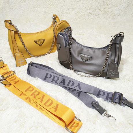Женская сумка Prada прада нейлон 2 цвета
