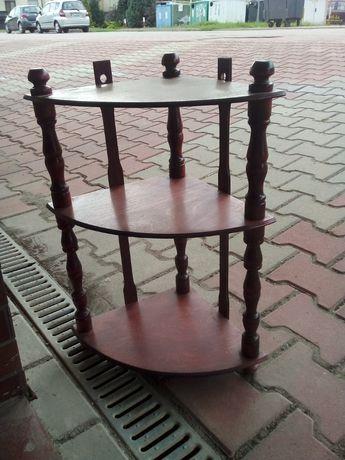 Drewniana narożna półka