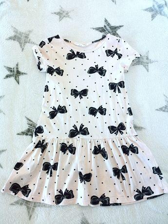 H&M sukienka w kokardy rozm. 110/116