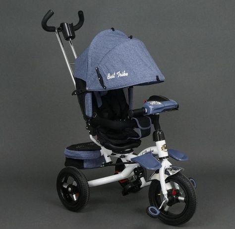 Трёхколёсный велосипед коляска, Поворот сиденья, резина, Ровер, ручка