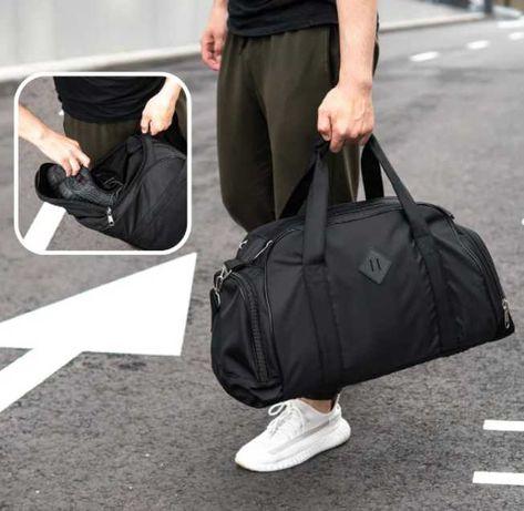 Большая мужская спортивная сумка для зала отдел для обуви дорожная 28