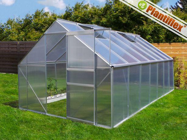 Szklarnia  13,75m2 aluminiowa PLANTIFLEX 250x550x195cm + fundament
