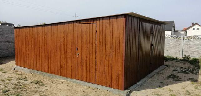 Garaż drewnopodobny ORZECH,ZLOTY DĄB