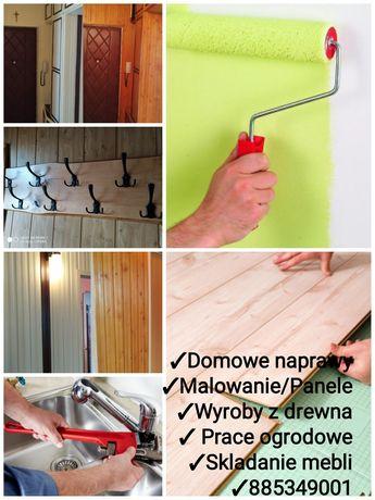 Złota rączka! Malowanie - Panele - Montaż mebli - Domowe naprawy!Ogród