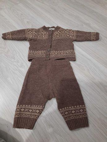 Sweterek i spodenki dziecięce wełna jagnięca Mohini r.68