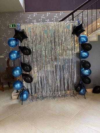 Ścianka urodziny aksesoria balony dekoracja
