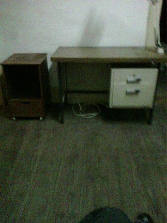 Secretária 2 gavetas + mesa apoio